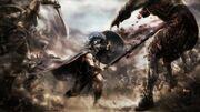 Kevan battling goblins