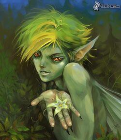 Green-elf male
