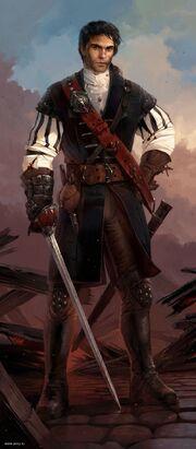 Harken II disgused as a pirate