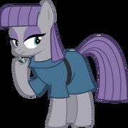 Maud pie with a rock by diamondsword11-d7aknm9