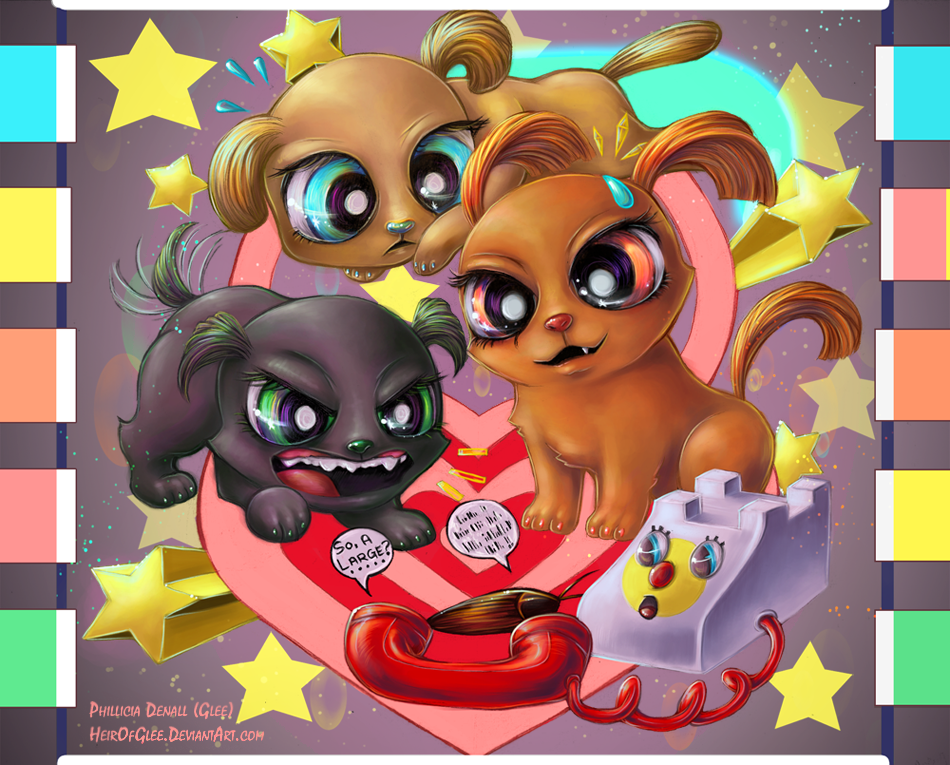 Powerpuff pups by heirofglee-d52ski7