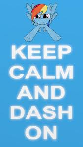Keep calm and dash on