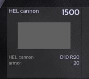 4 HEL cannon