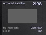 Armored satellite
