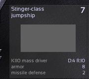 Stinger-class jumpship