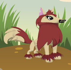 File:An example of a red velvet creature, this is a red velvet wolf.png