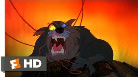 The Secret of NIMH (2 9) Movie CLIP - Dragon Attacks (1982) HD