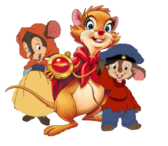 File:Mrs Brisby, Fievel and Tanya by BrianDuBose.png