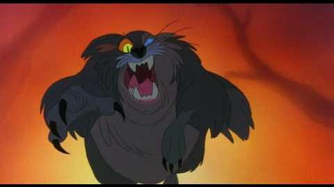 Secret of NIMH Jeremy and Mrs. Brisby escape from cat Dragon