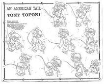 Tony model animation sheet