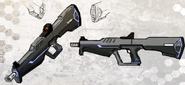 Drone Assault Rifle Concept Art