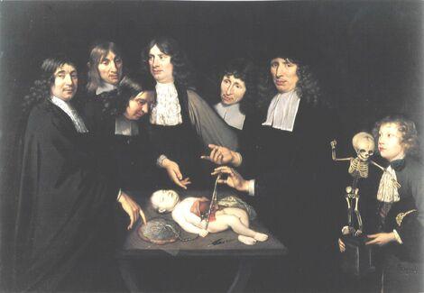 Jan van Neck. La lección de anatomía del Dr. Federick Ruysch.