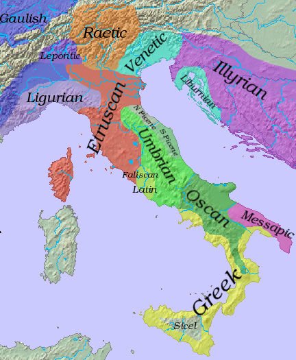 Oscan Ancient Languages FANDOM Powered By Wikia - Latin language map