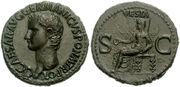 Caligula Vesta Bronze Coin