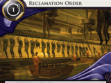 Reclamation Order