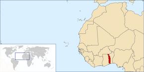 Lokalizazión Togo