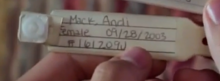 Andi's wristband in season 1 episode 1