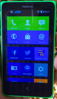 My green Nokia X (13582469484)