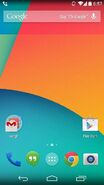 Android KitKat 4 4 Homescreen