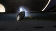 Courier Ship Crash Landing on Andromeda