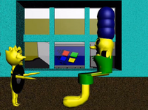 Lisa and Marge near the window