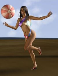 Beach balling by candelagreene-d4bllh8