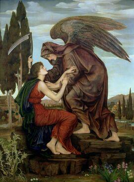 Evelyn De Morgan - Angel of Death (Azrael)