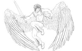 Zephon the angel by phoenixwildfire