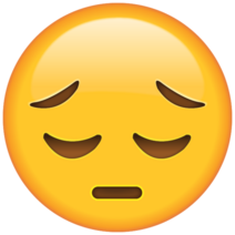 Sad Face Emoji large