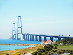 Storebæltsbroen from Sjælland (edit)