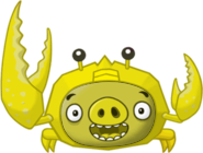 Golden Crab Pig