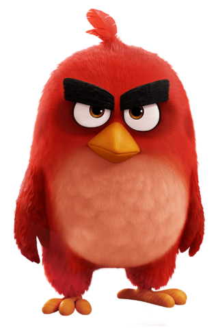 File:Red Bird The Angry Birds Movie PNG Transparent Image.png