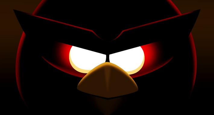 Angry Birds Space Dark Flaming Eyes HD Wallpaper-Vvallpaper.Net