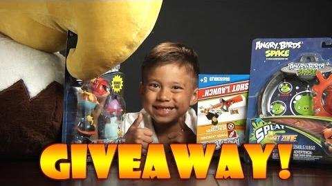 EvanTubeHD Angry Birds GIVEAWAY!!! Win a MIGHTY EAGLE PLUSH, Angry Birds Space Mash'Ems - CLOSED