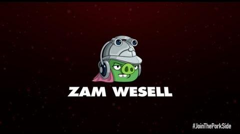 Angry Birds Star Wars 2 character reveals Zam Wesell