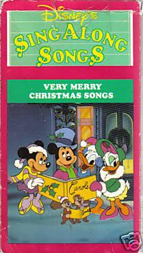 Disney Sing Along Songs Christmas Vhs.Disney S Sing Along Songs Very Merry Christmas Songs