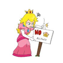 Peach with No Super Crown Sign