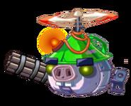Зелёный дрон охотник