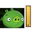 Свинья с линейкой
