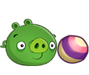 Свинья с мячиком