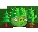 Свинья-босс с кактусом