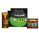 Свинья-босс музыкант