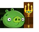 Свинья с трезубцем