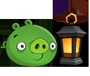 Свинья с лампой
