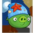 Свинья в зимней шапке
