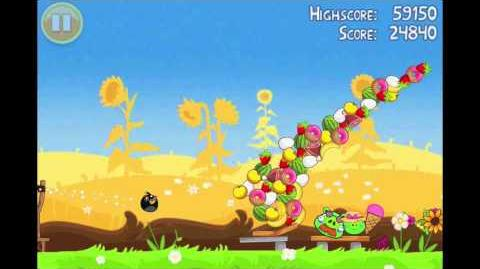 "Angry Birds Seasons Summer Pignic Golden Egg 20 Walkthrough ""Big Basket"""
