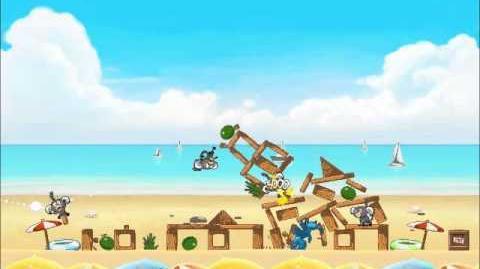 Official Angry Birds Rio Walkthrough Beach Volley 5-2