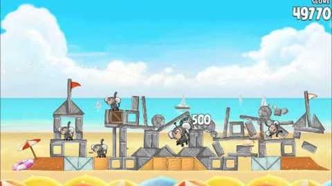 Official Angry Birds Rio Walkthrough Beach Volley 6-8
