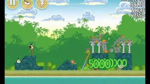 Angry Birds 21-14 Bad Piggies 3 Star Walkthrough (Angry Birds Classic 21-14)