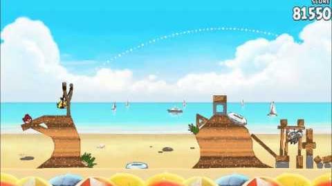 Official Angry Birds Rio Walkthrough Beach Volley 6-2